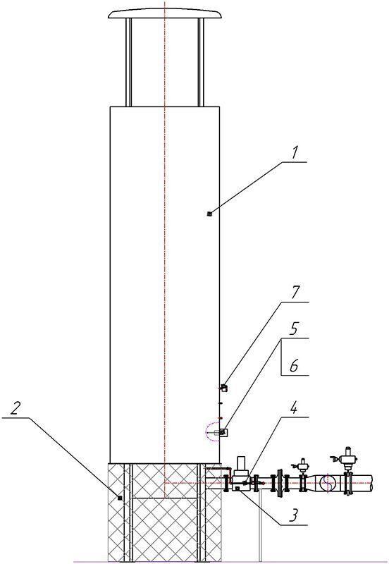 Факел для сжигания биогаза